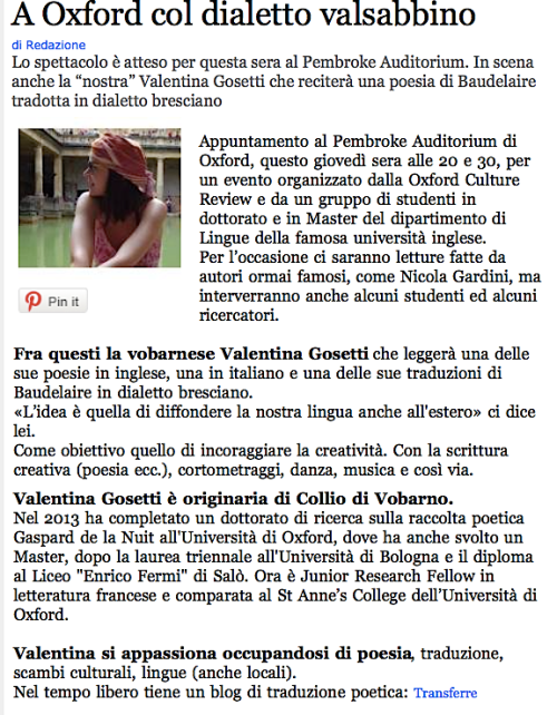 Valle Sabbia News, 19 Feb 2015